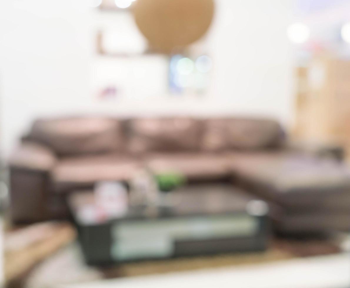 image floue de l'intérieur du salon moderne pour le fond photo