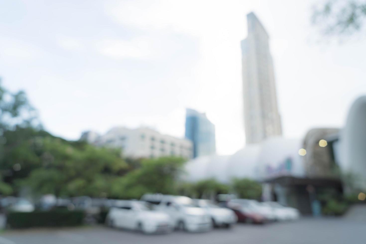voiture de stationnement floue abstraite pour le fond photo
