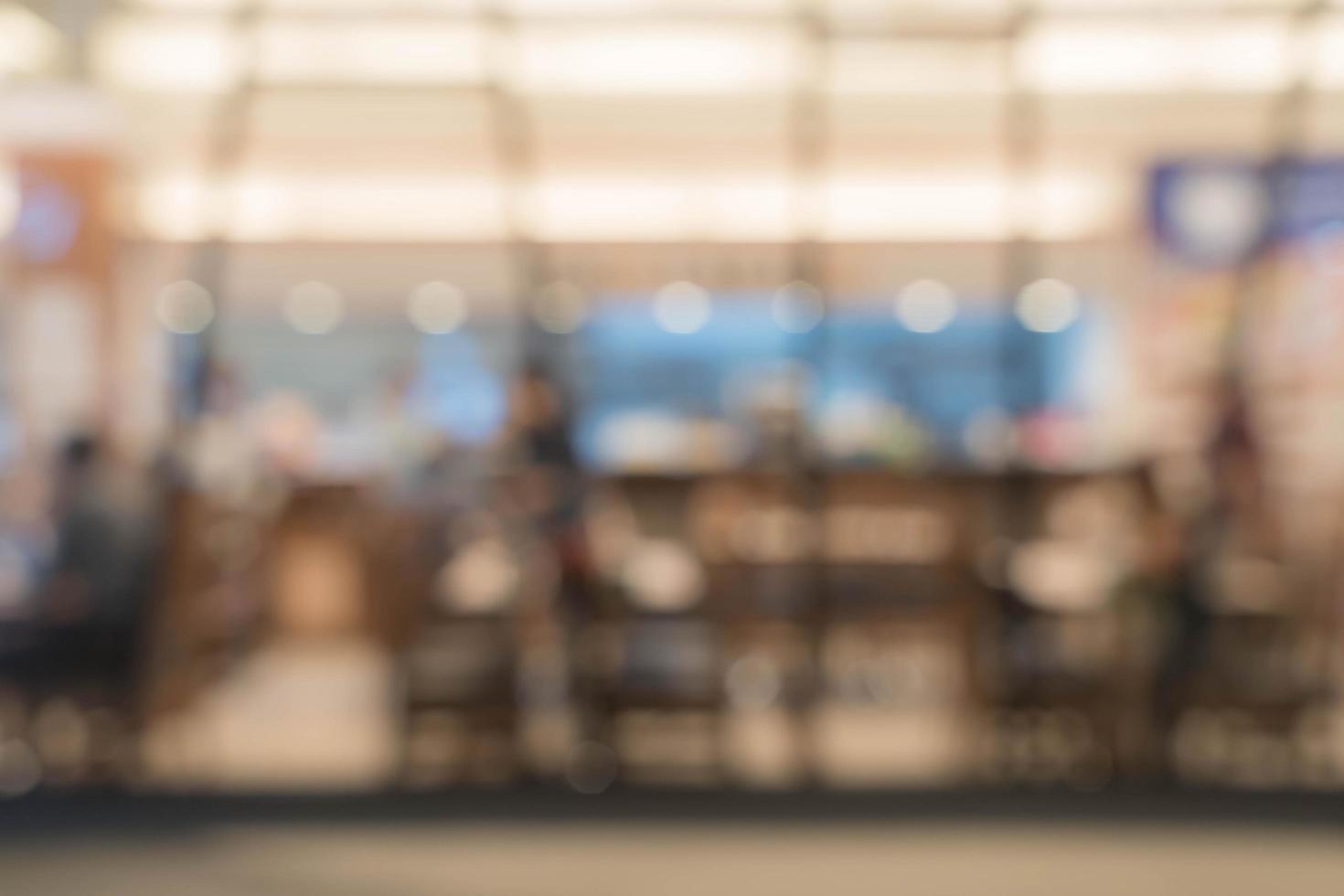 résumé, flou, gens, dans, nourriture, et, café, magasin, pour, arrière-plan photo