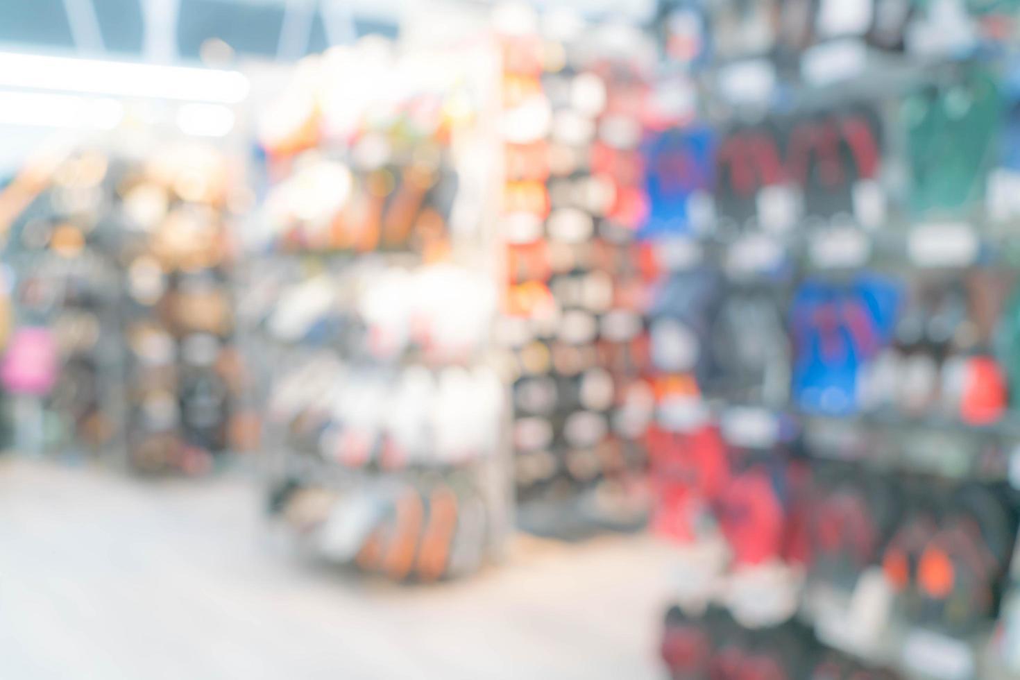 centre commercial flou abstrait et intérieur du magasin de détail photo