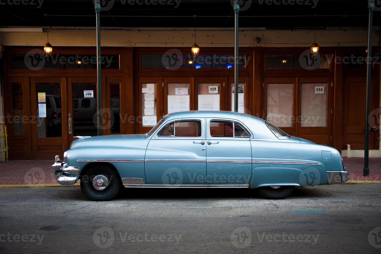 Automobile des années 1950 à la Nouvelle-Orléans photo