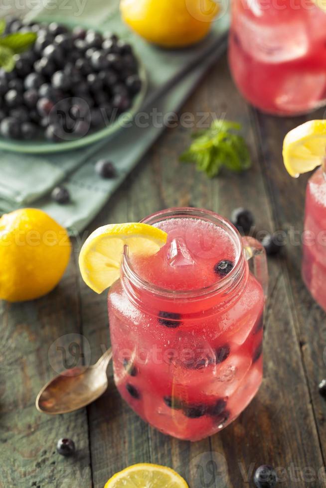 limonade aux bleuets sucrés bio photo