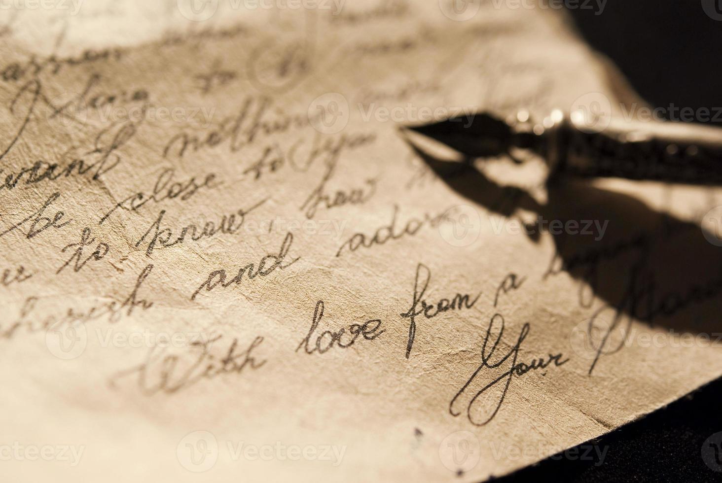 vieille lettre d'amour photo
