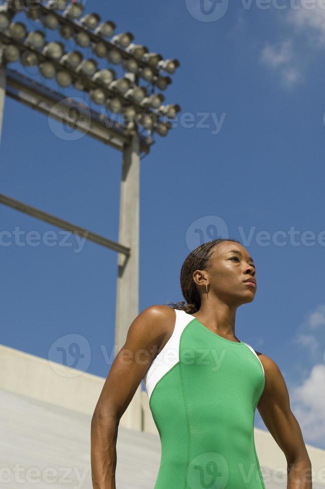 athlète de piste féminine photo