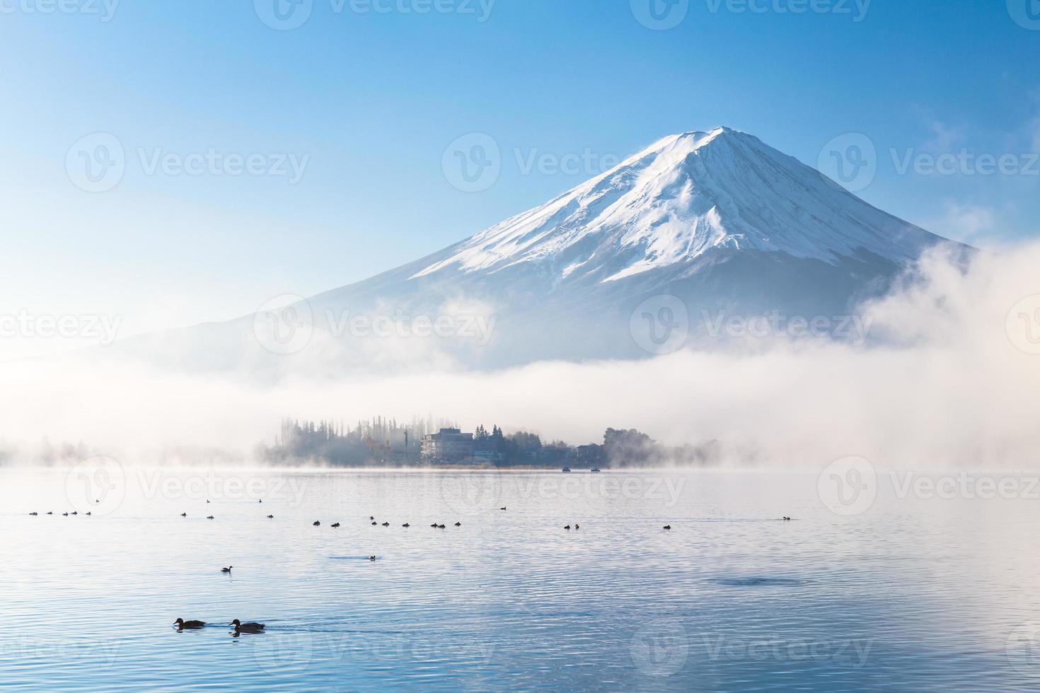 Fujisan dans la brume d'automne photo