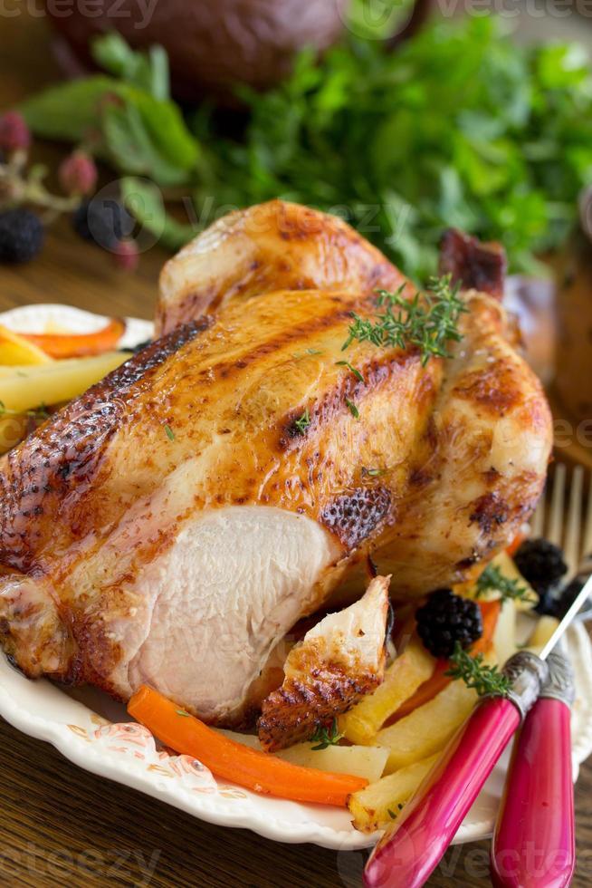 poulet frit. plat festif. photo