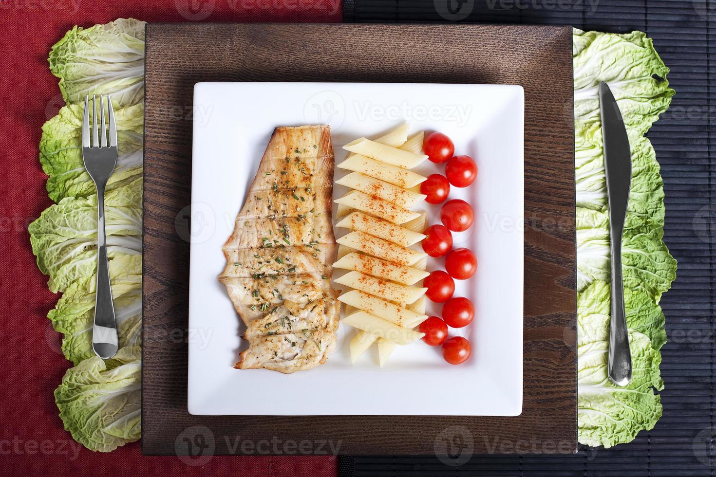 poulet et pâtes photo