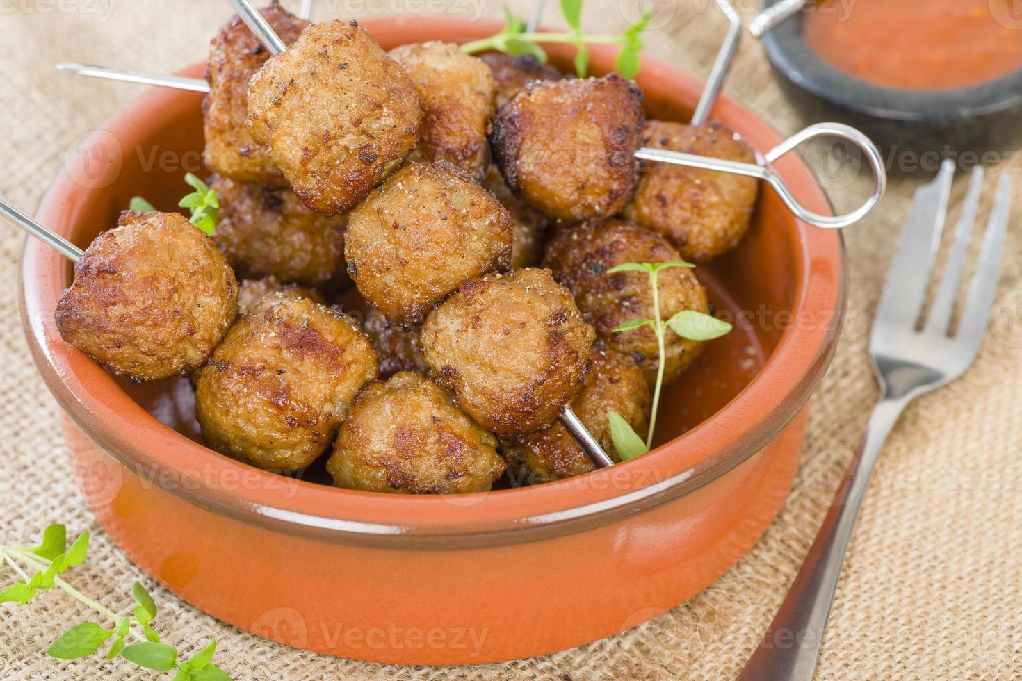Boulettes de viande BBQ photo