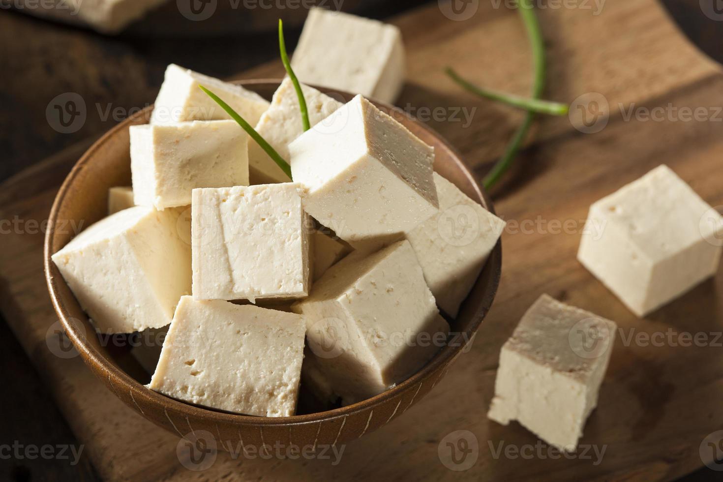 tofu de soja cru biologique photo