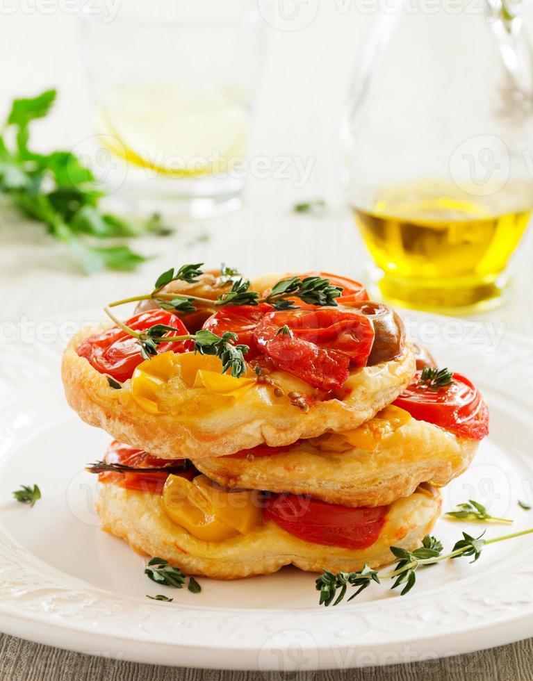 tarte aux tomates. photo