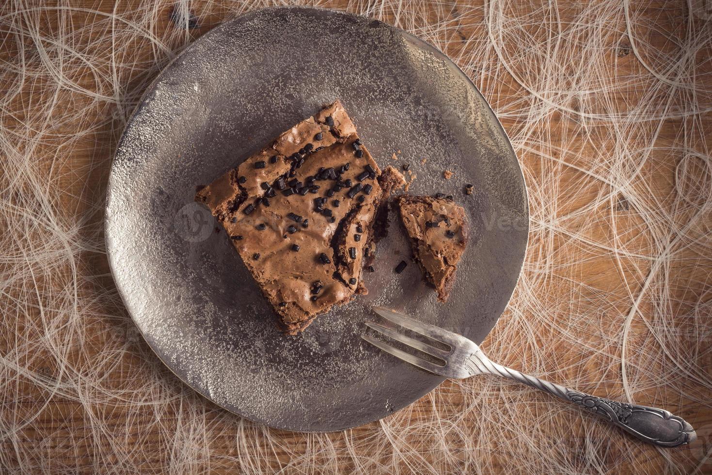 Brownie au chocolat photo