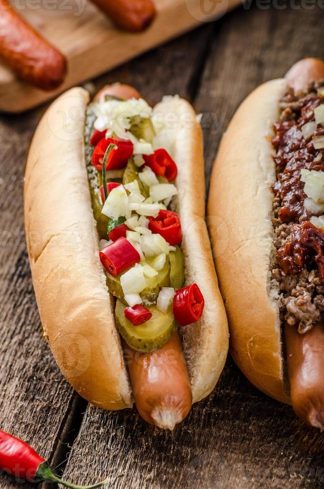 piment et hot-dog végétarien photo