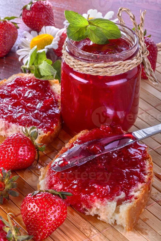 confiture de fraise photo