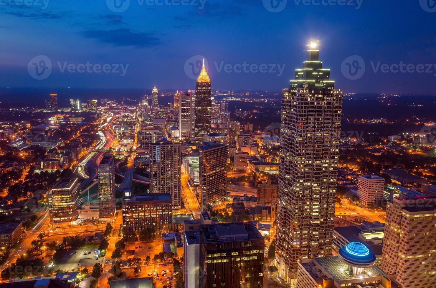 Skyline du centre-ville d'Atlanta, Géorgie photo