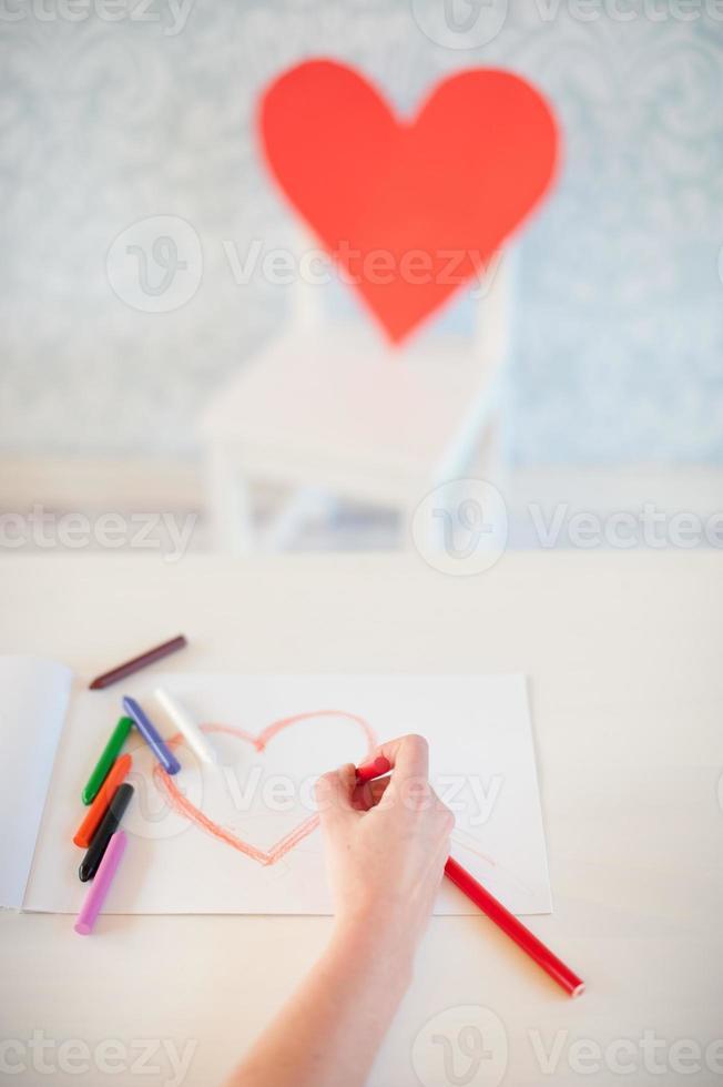 dessiner un coeur photo