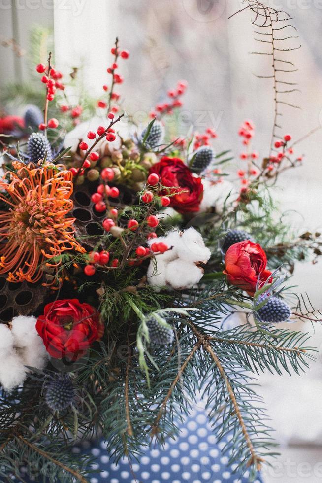 bouquet d'hiver coloré photo