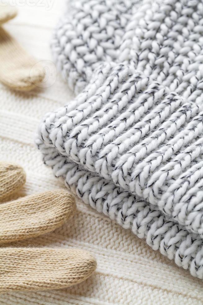 vêtements en laine hiver photo