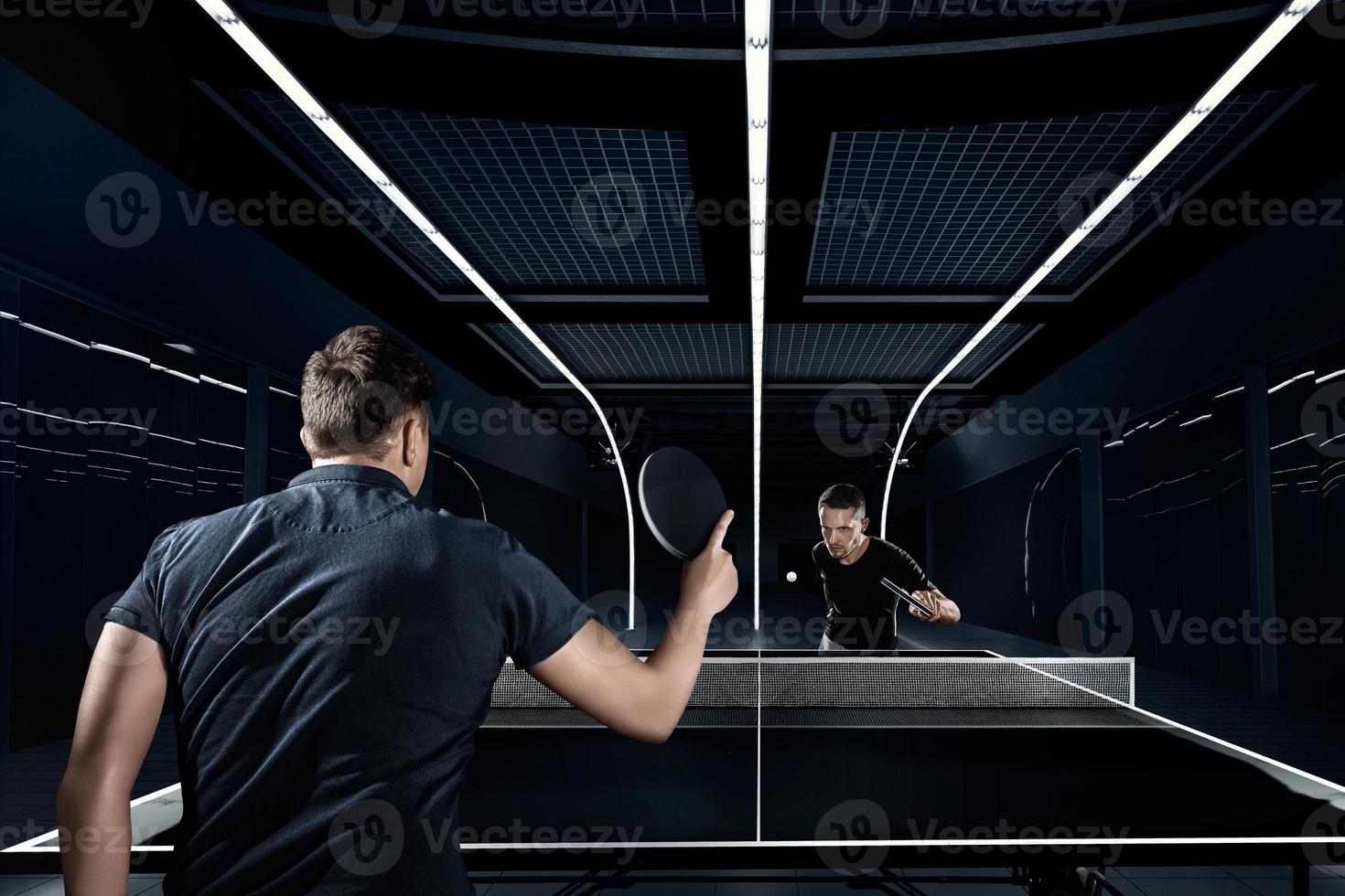 des sports. tennis de table, ping-pong, sparring. photo