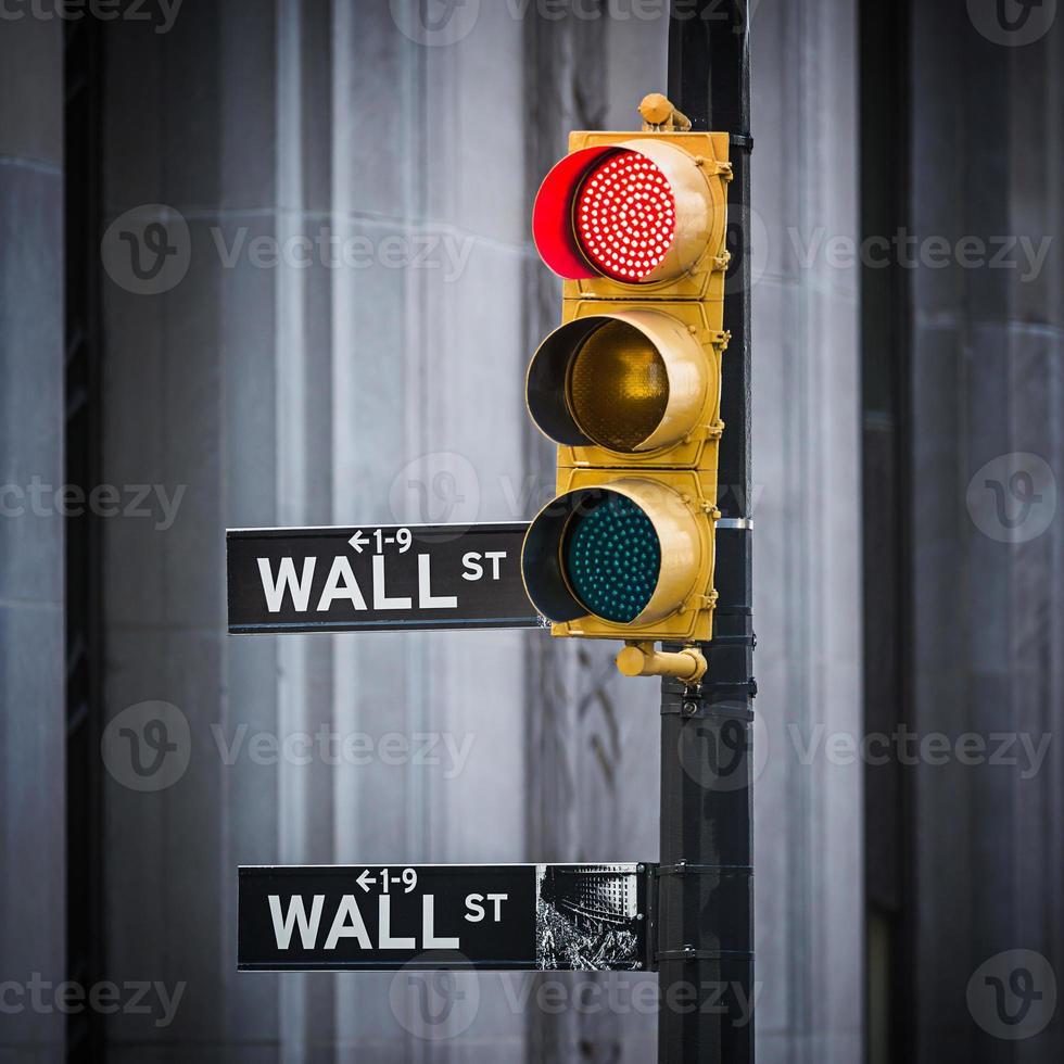 Plaque de rue de Wall Street, New York City, USA photo