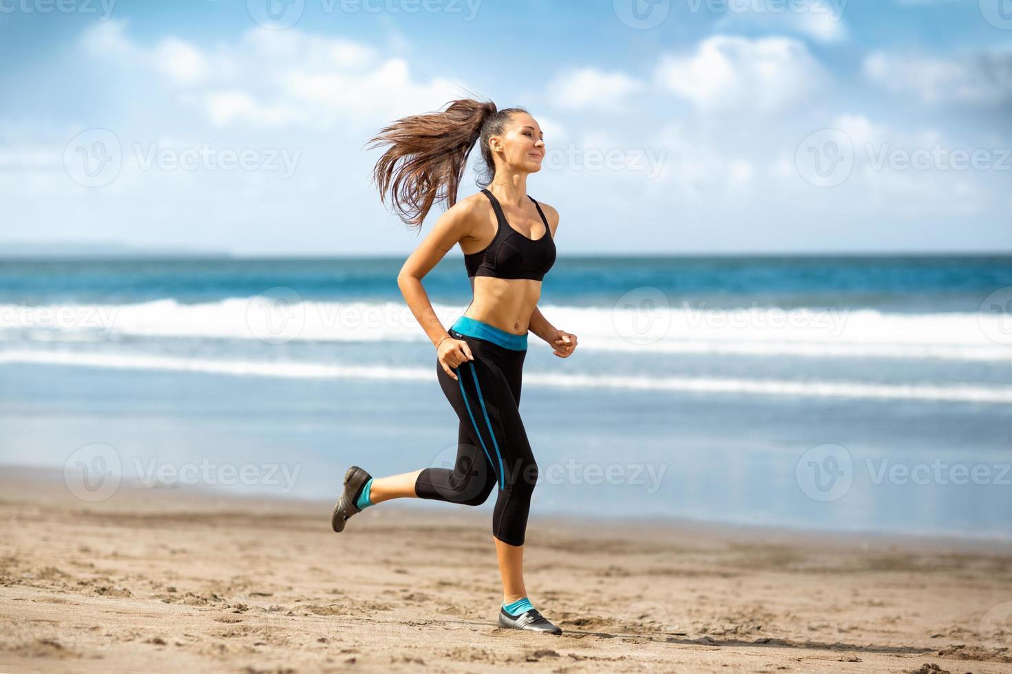 coureur féminin jogging photo