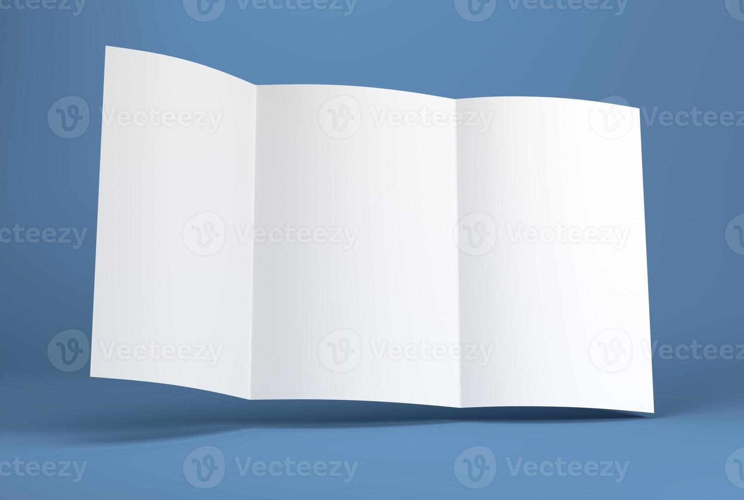 brochure papier blanc blanc photo