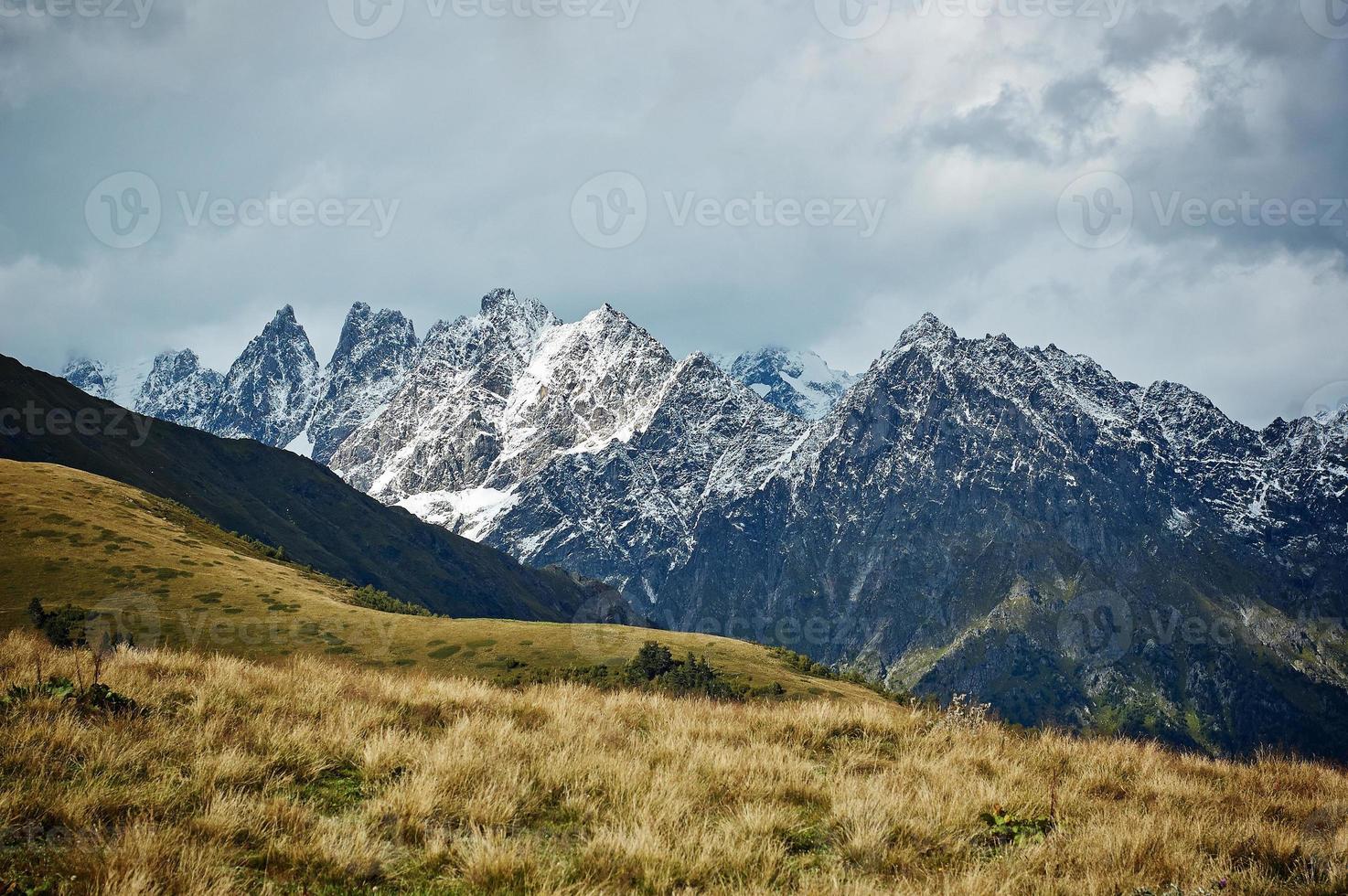 crête de la montagne photo