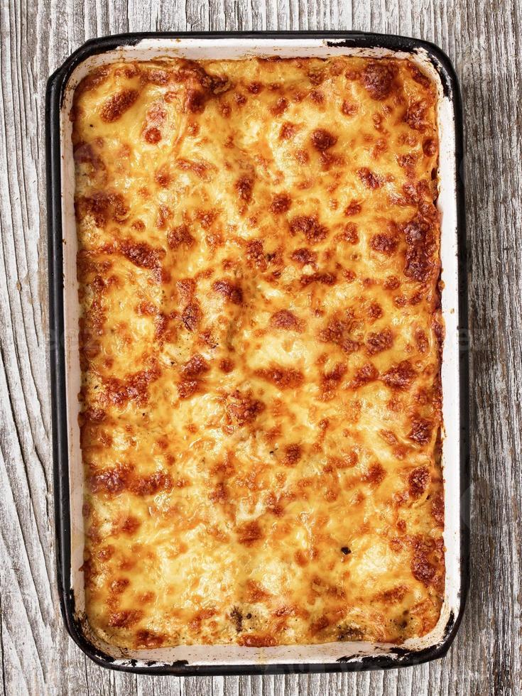 lasagne au four rustique italienne photo