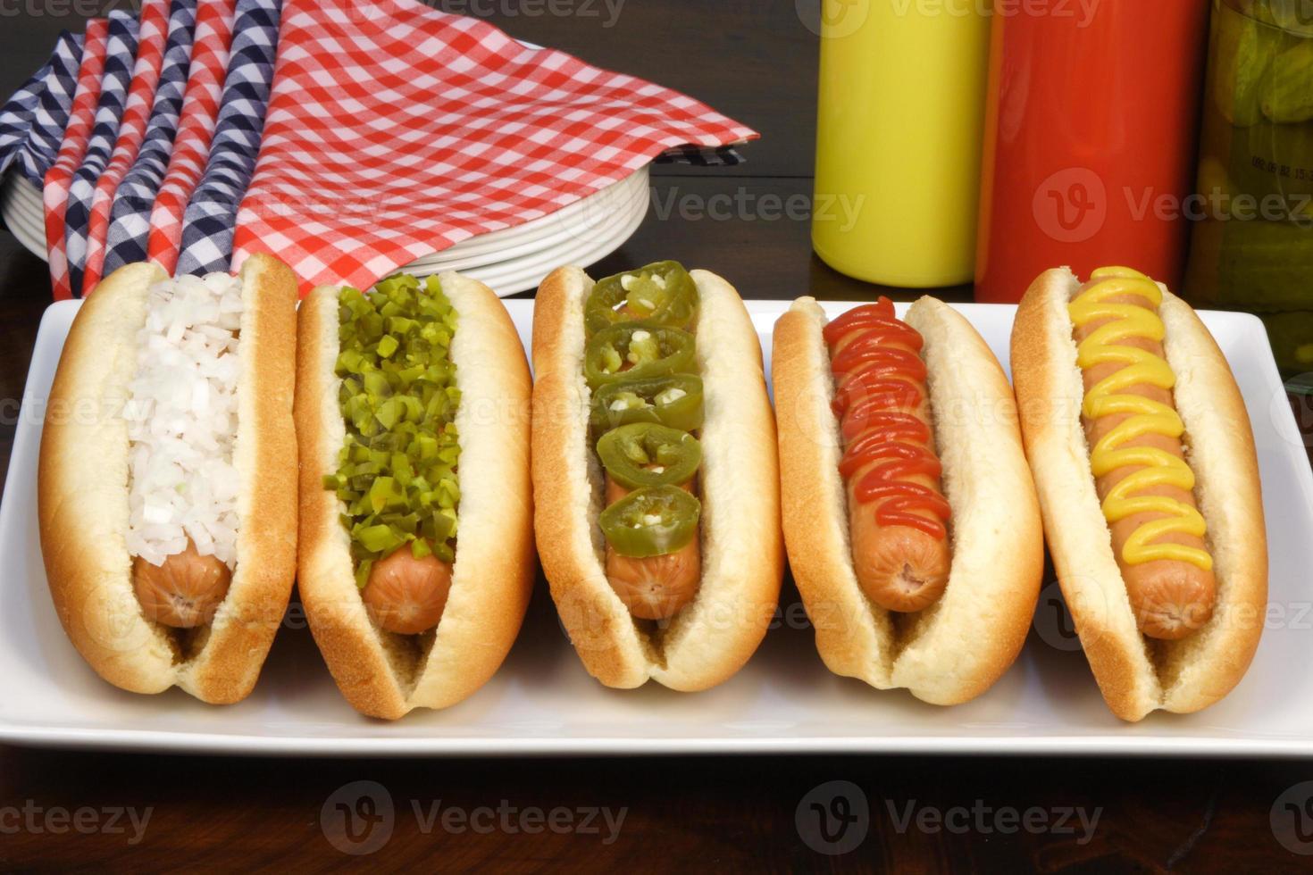 hot-dogs pour une fête photo