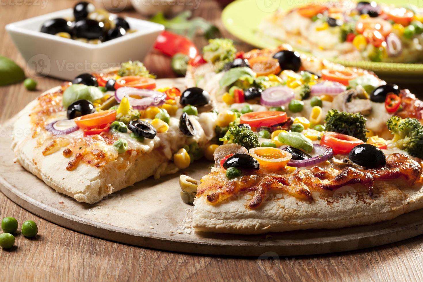 pizza végétarienne photo