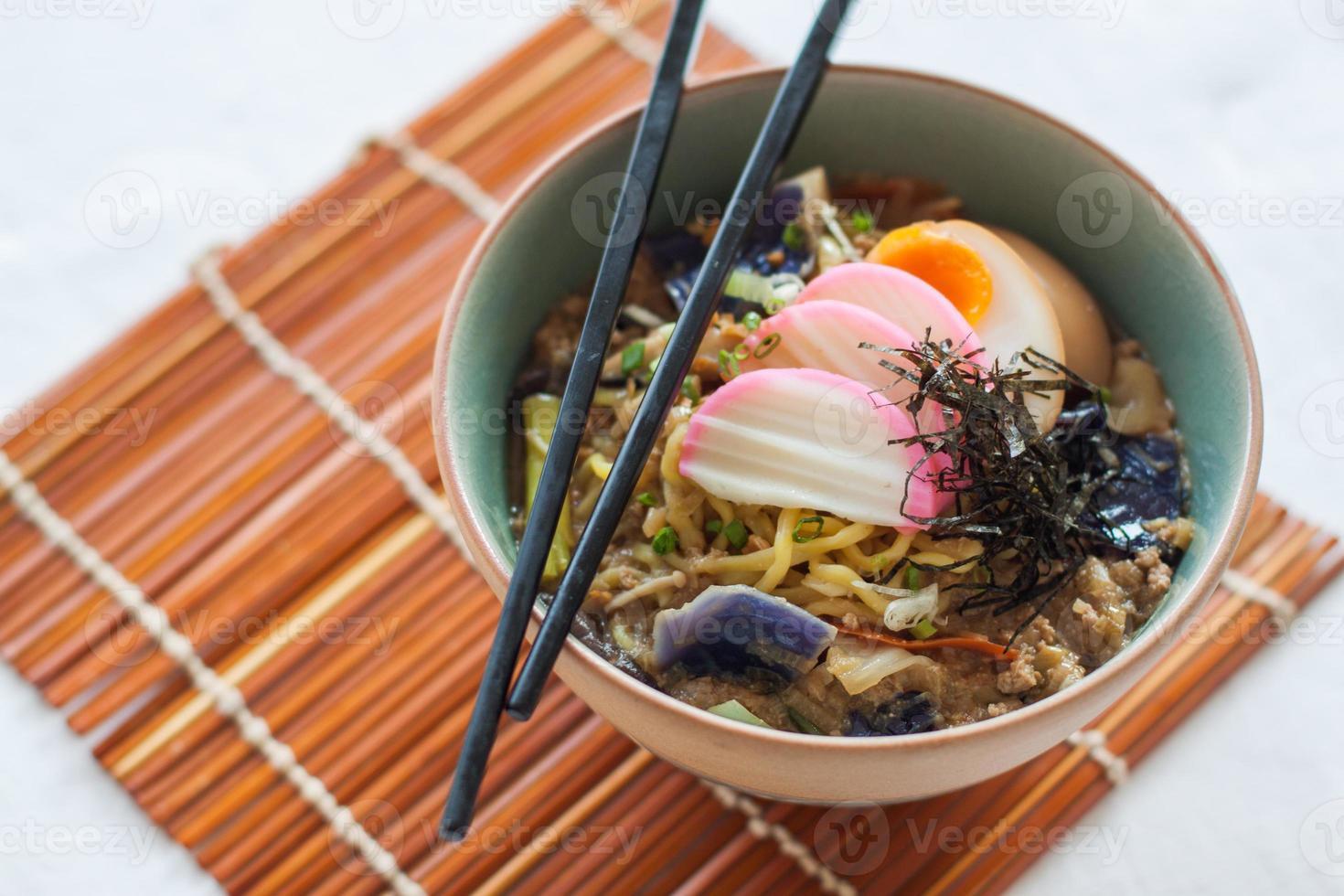 spécial nouilles aux oeufs chinois photo