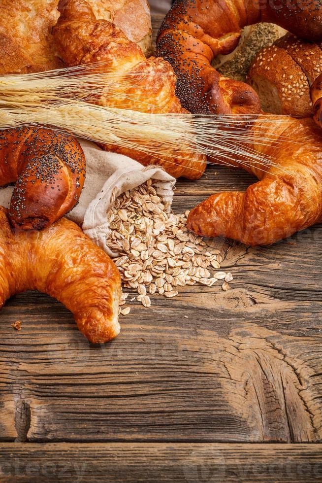 nature morte de produits de boulangerie photo