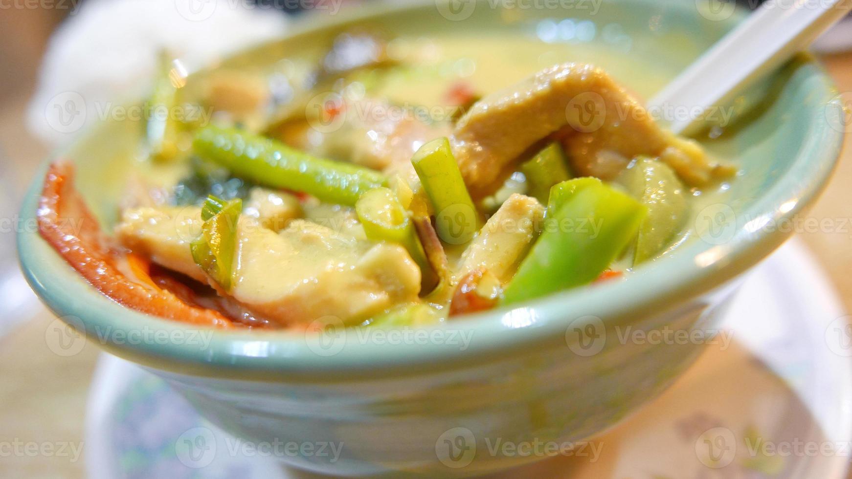 poulet au curry vert thaïlande alimentaire photo