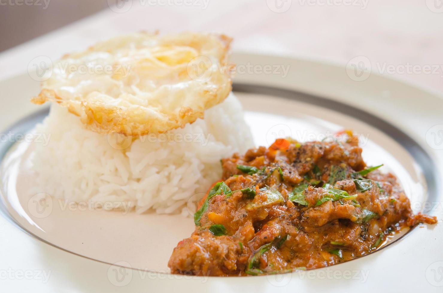 cuisine de style thaï photo