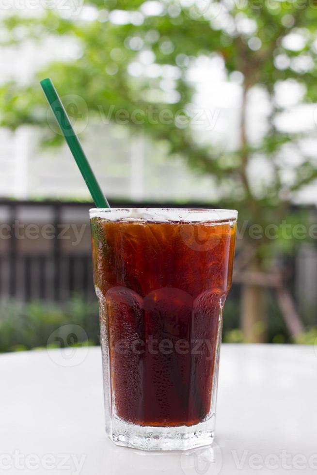 café noir glacé, americano. photo