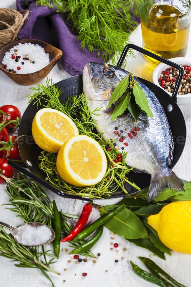la cuisson du poisson photo