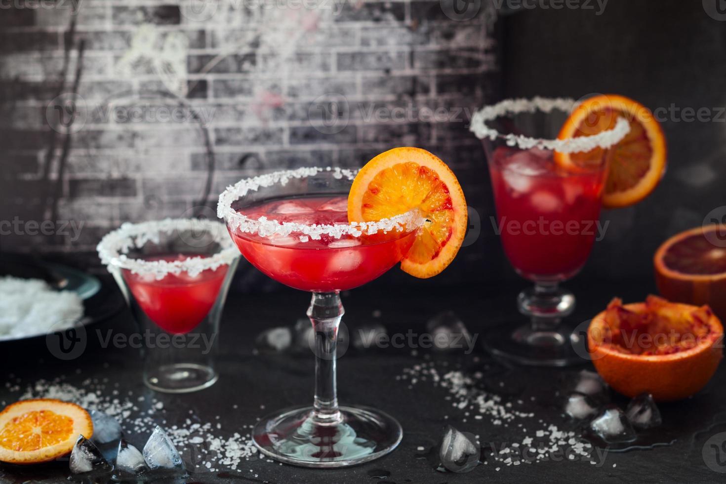 margarita à l'orange sanguine photo