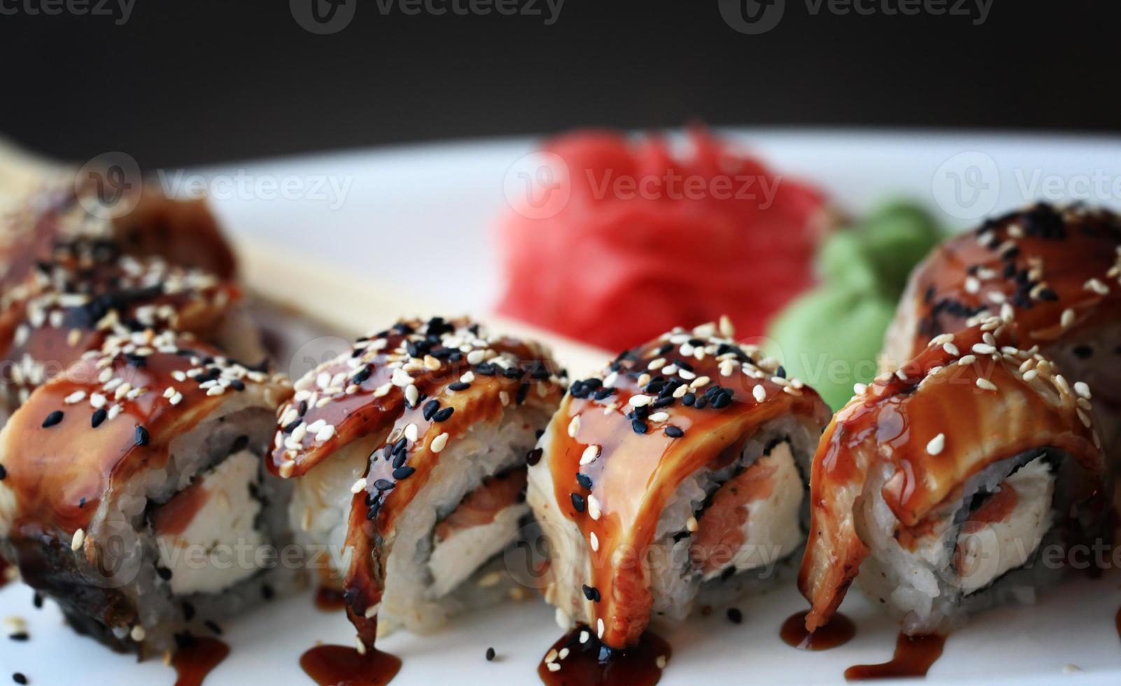 la nourriture japonaise est des sushis photo