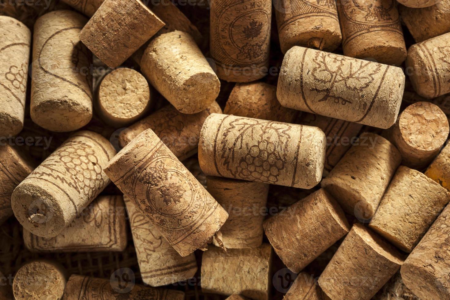 bouchons de vin brun rustique photo