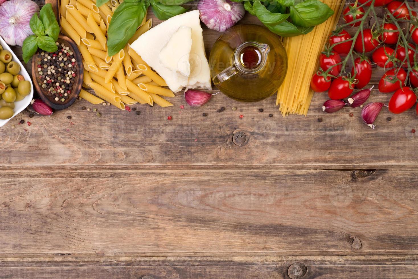 ingrédients de la cuisine italienne photo
