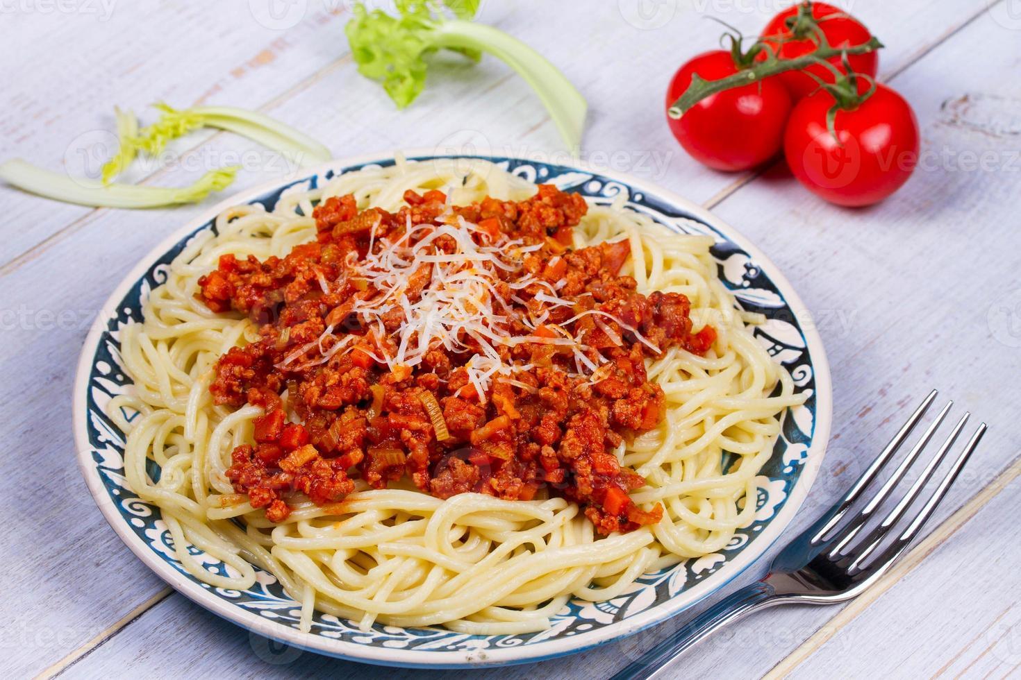 spaghetti à la sauce bolognaise photo