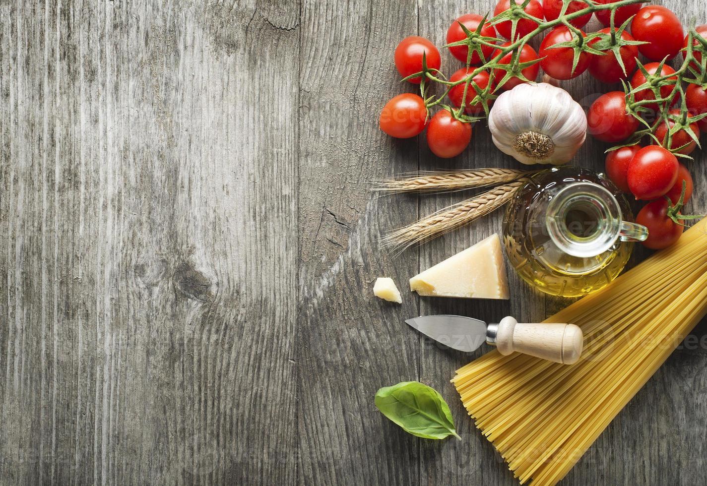 ingrédients de pâtes photo