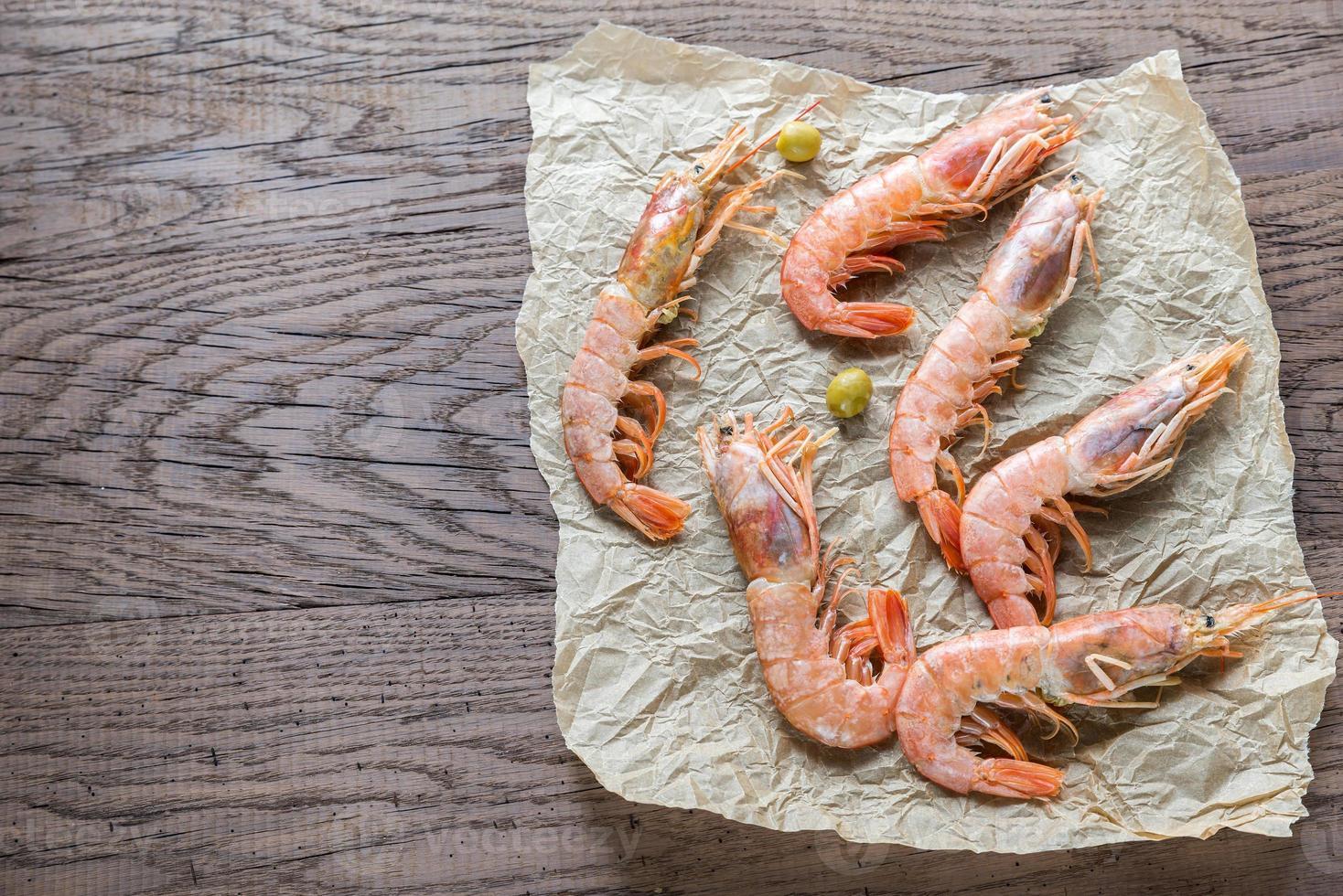 crevettes crues photo