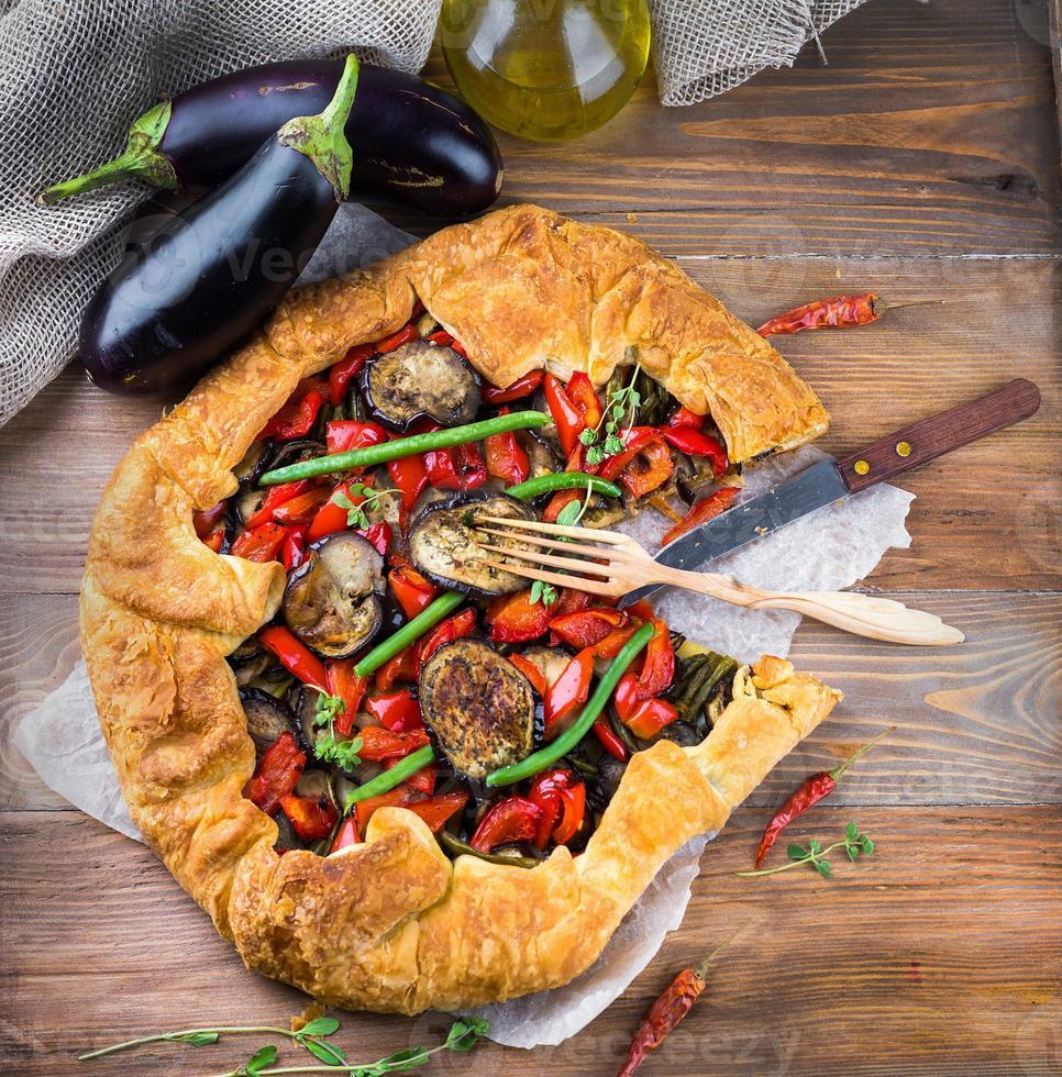 tarte aux aubergines photo