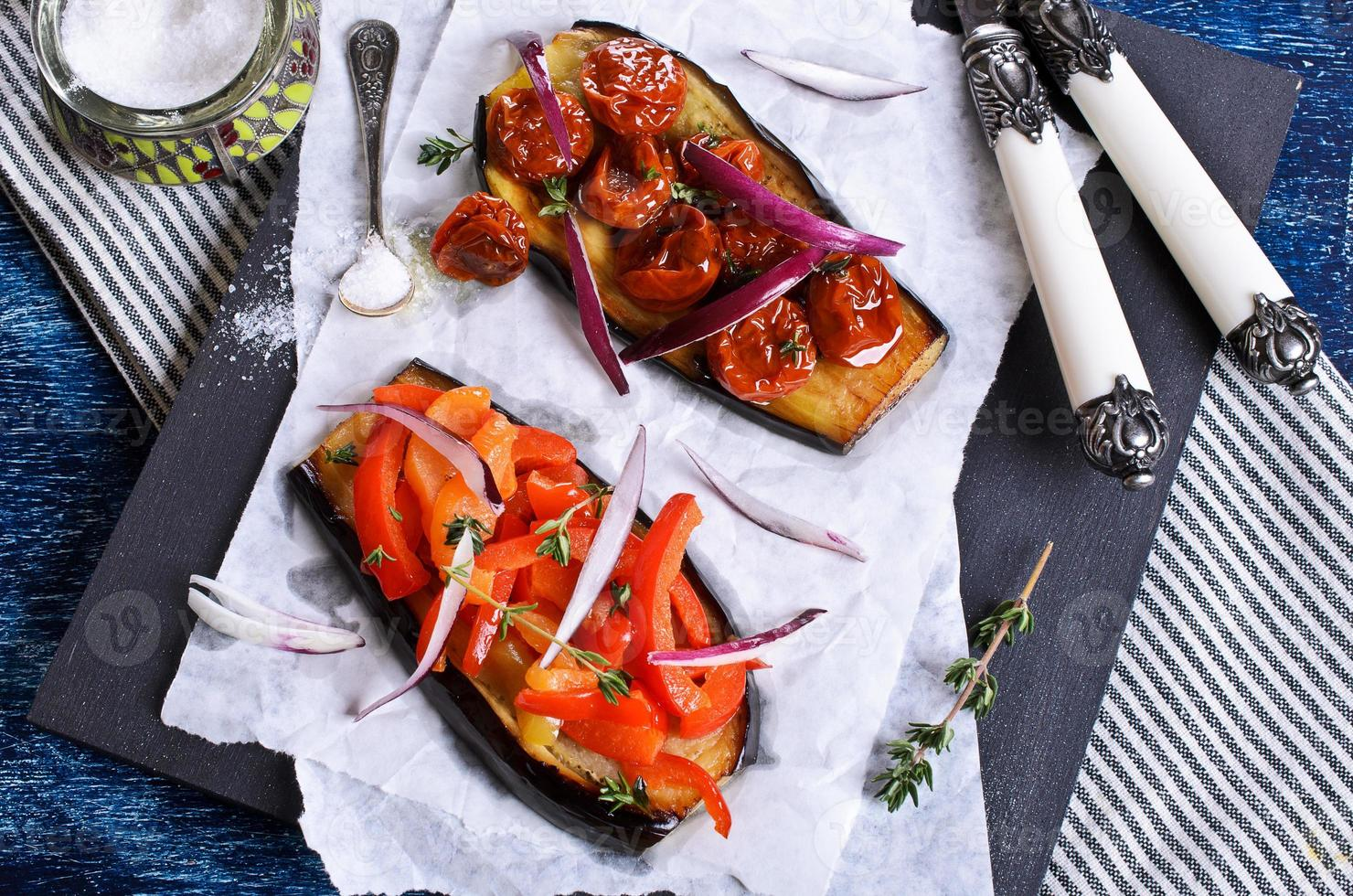 aubergine aux légumes photo