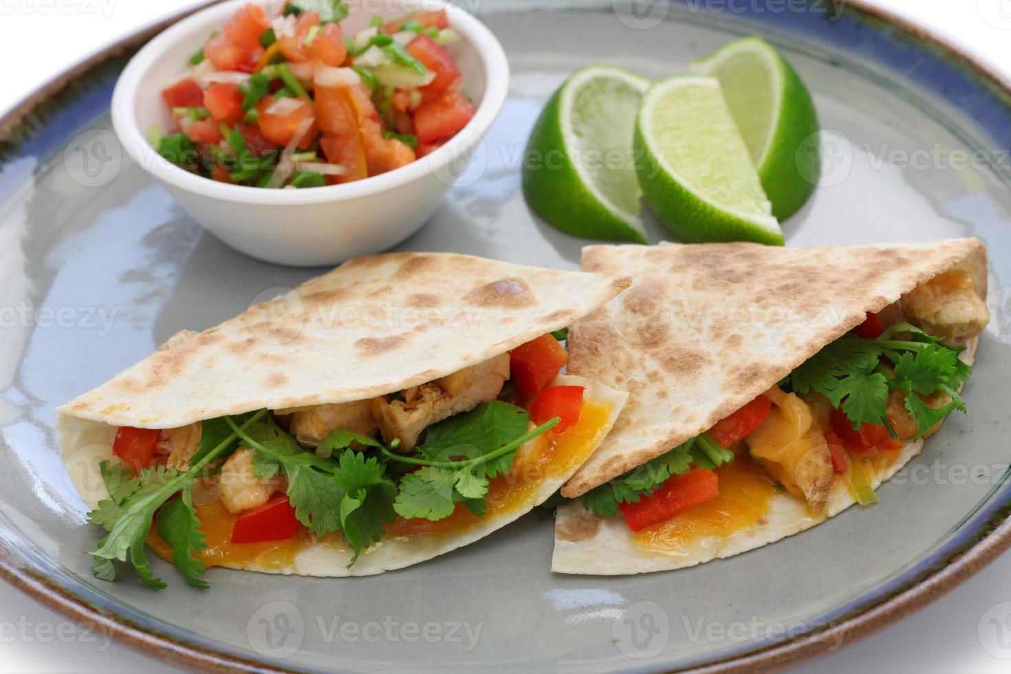 Quesadillas au poulet photo