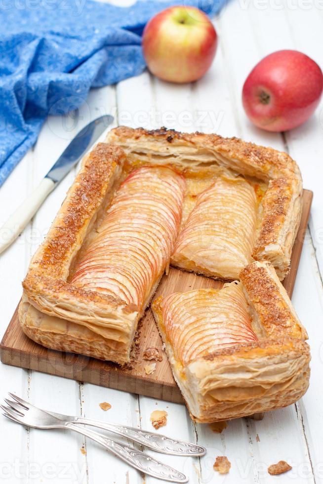 pâte feuilletée aux pommes photo