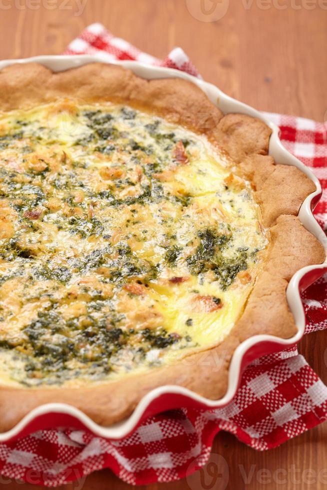 tarte aux épinards et saumon photo