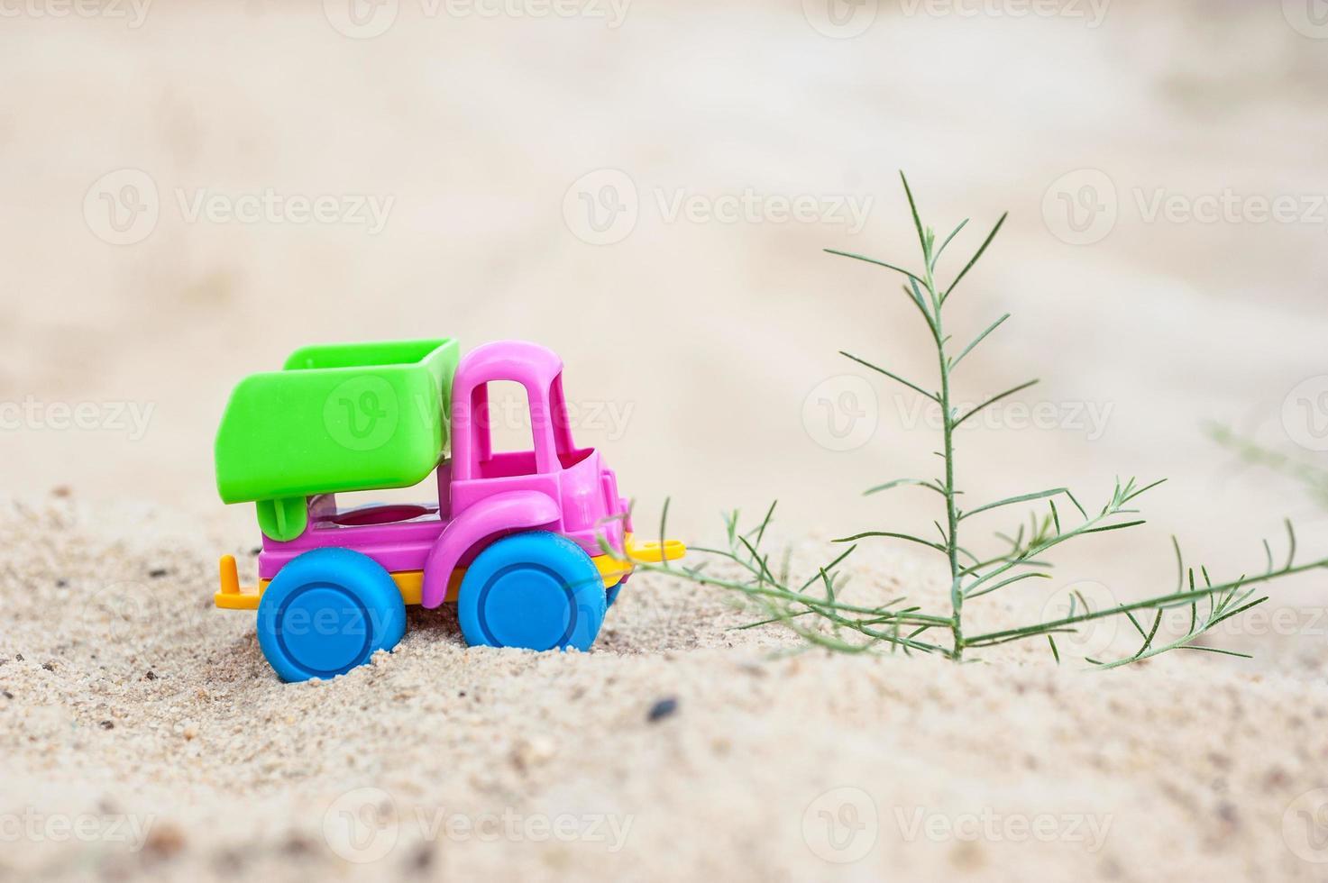 camion dans les sables photo