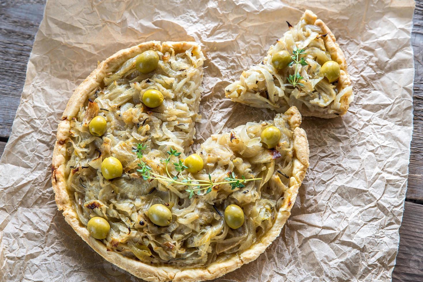 tarte aux oignons français photo