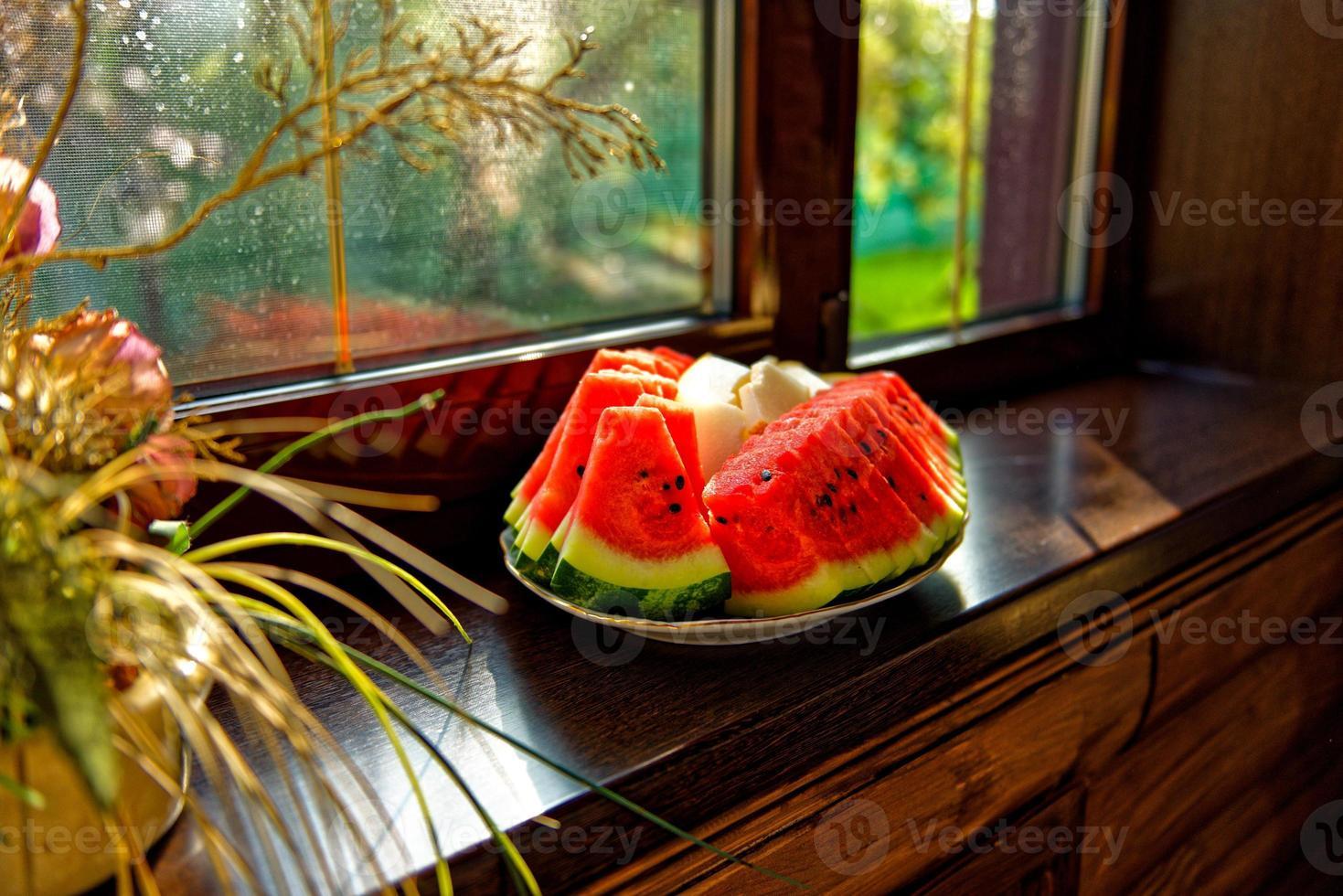 fruits sur plaque photo